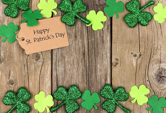 Katebackdrop£ºKate Wooden Clover Happy St.Patrick's Day backdrop