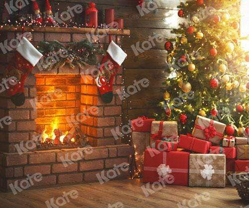 Load image into Gallery viewer, Kate Winter Christmas trees  Fireplace Christmas Gifts for Pictures