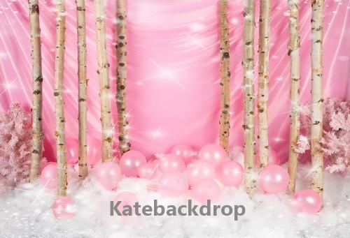 Kate Birthday Pink Cake Smash Backdrop Designed by Jia Chan Photography
