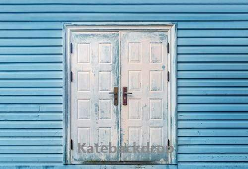 Kate Vintage Door Blue Wall Backdrop Designed by Jia Chan Photography