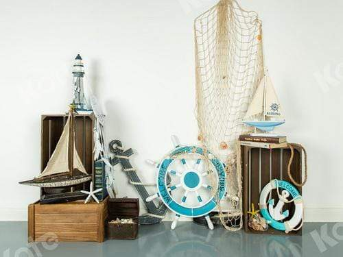 Kate Navy Ship Wheel Children Backdrop Designed by Jia Chan Photography
