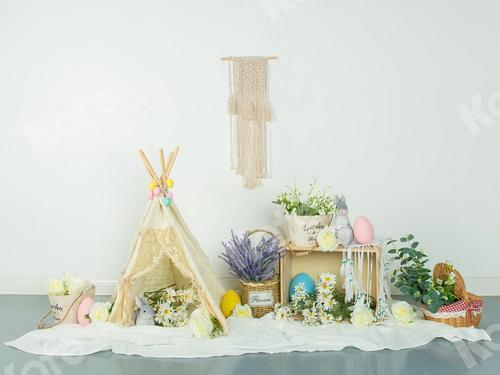 Kate Spring\Easter Floral Egg Decoration Backdrop Designed by Jia Chan Photography