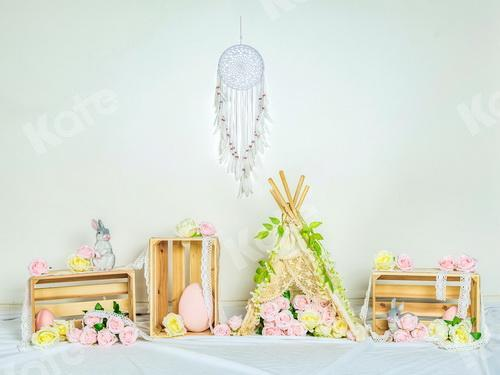 Kate Spring\Easter Pink Flowers Backdrop Designed by Jia Chan Photography