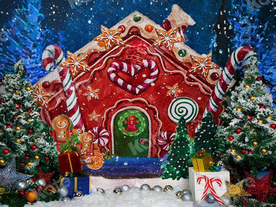 Kate Gingerbread House Christmas Backdrop Designed by Emetselch