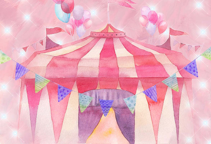 Kate Cake Smash Pink Circus Backdrop Designed by GQ
