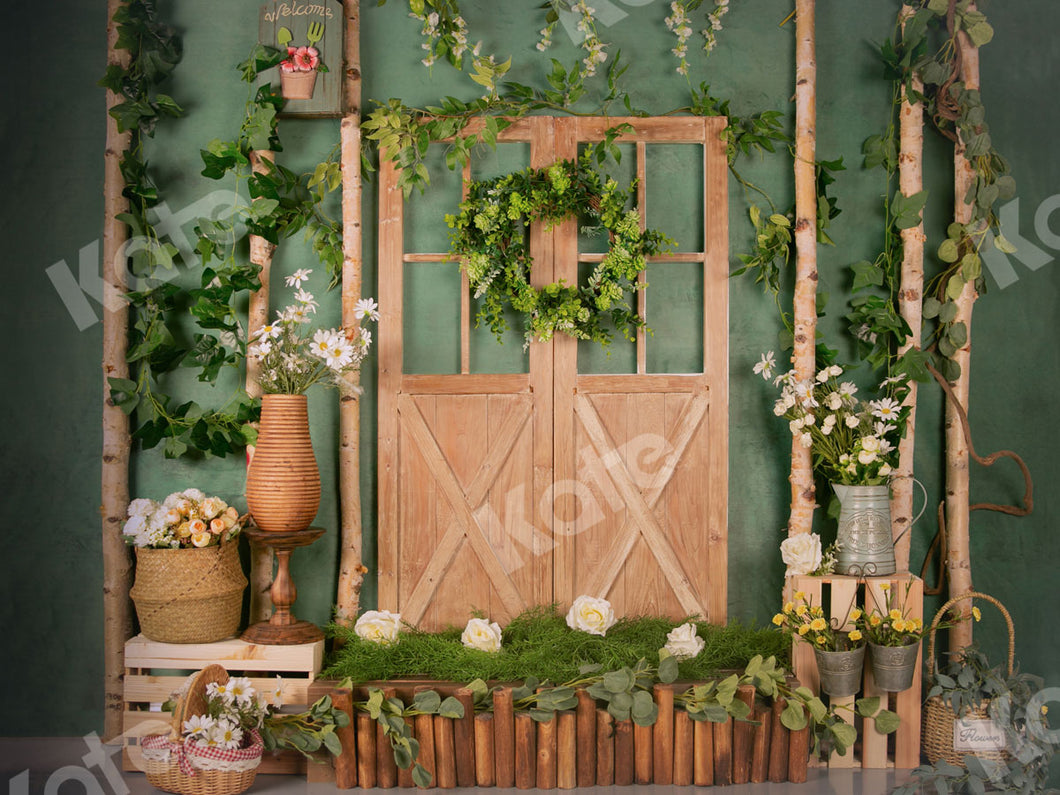 Kate Green&Flowers Door Summer Backdrop Designed by Jia Chan Photography