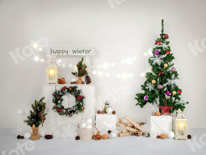 Kate Happy Winter Xmas Backdrop Designed by Jia Chan Photography