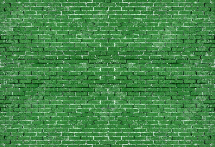 Kate Spring Green Brick Backdrop Designed by Kate Image
