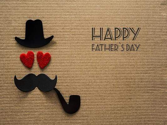 Katebackdrop£ºKate Happy Father'S Day Cartoon Beard Light Brown Photo