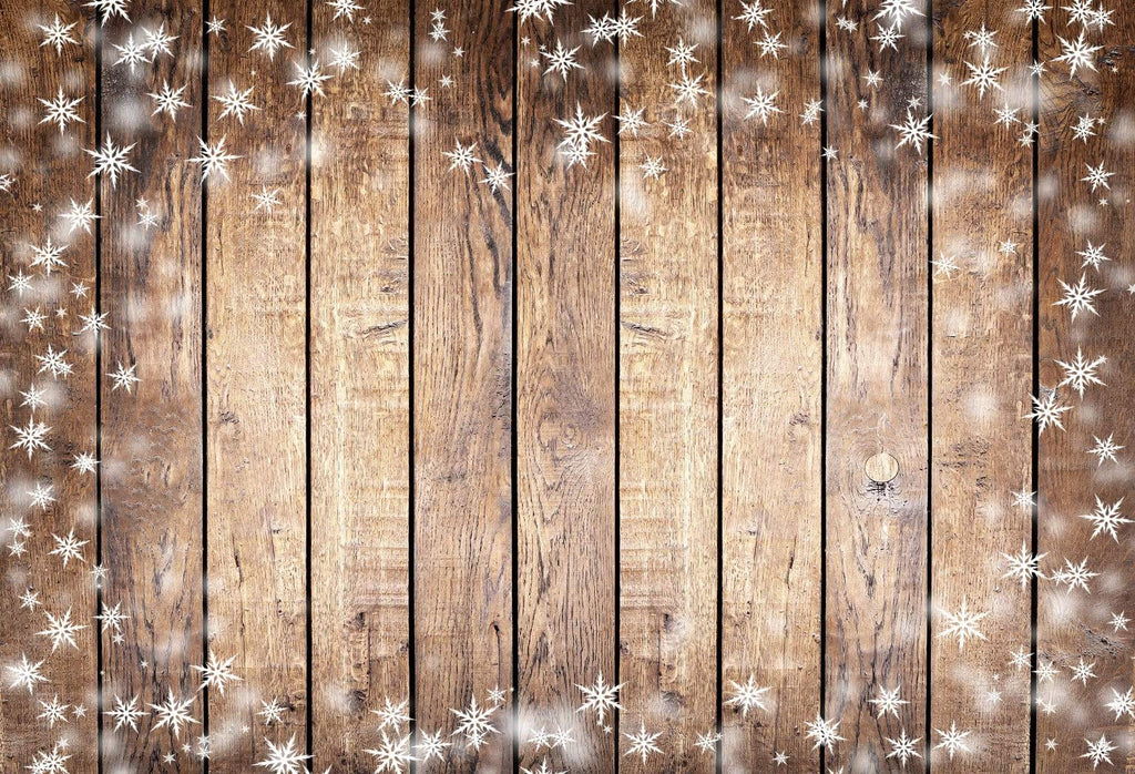 Katebackdrop AU brown snow drop wood rubber floor mat