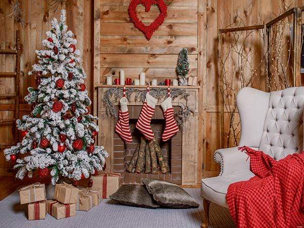 Katebackdrop£ºKate Christmas Stocking Backdrop Photo Background Studio Props