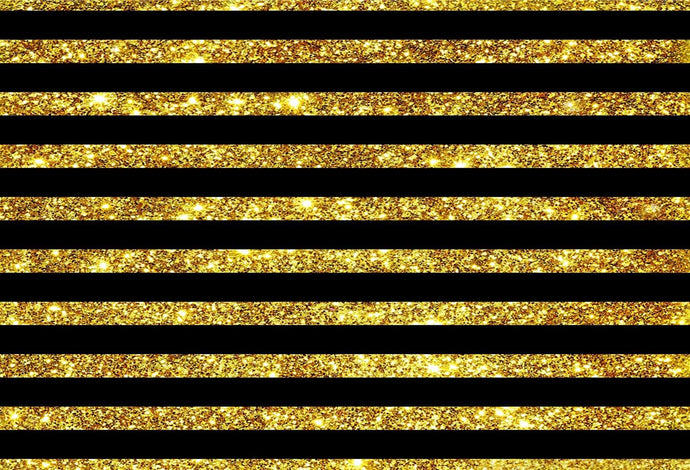 Kate Gold and Black Stripes Backdrop Birthday for Parties Photography Backgrounds