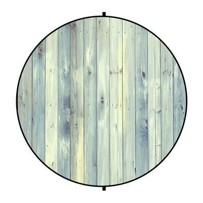 Kate Light Green Wood/Flowers Round Mixed Collapsible Backdrop for Baby Photography 5X5ft(1.5x1.5m)