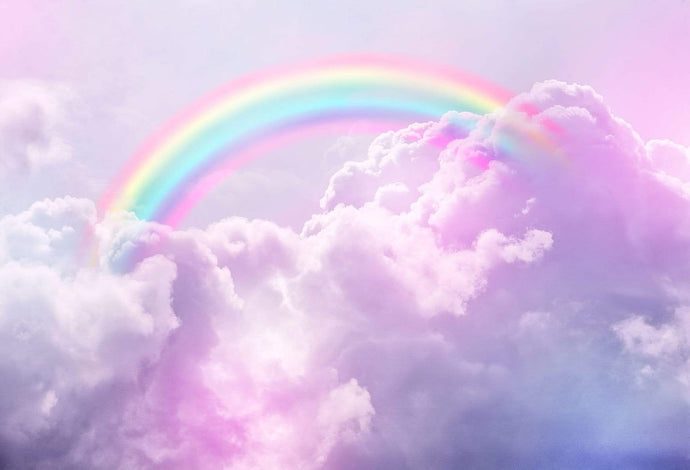 Kate Pink Cloud Sky Colored Rainbow Backdrops Newborn/Cake Smash