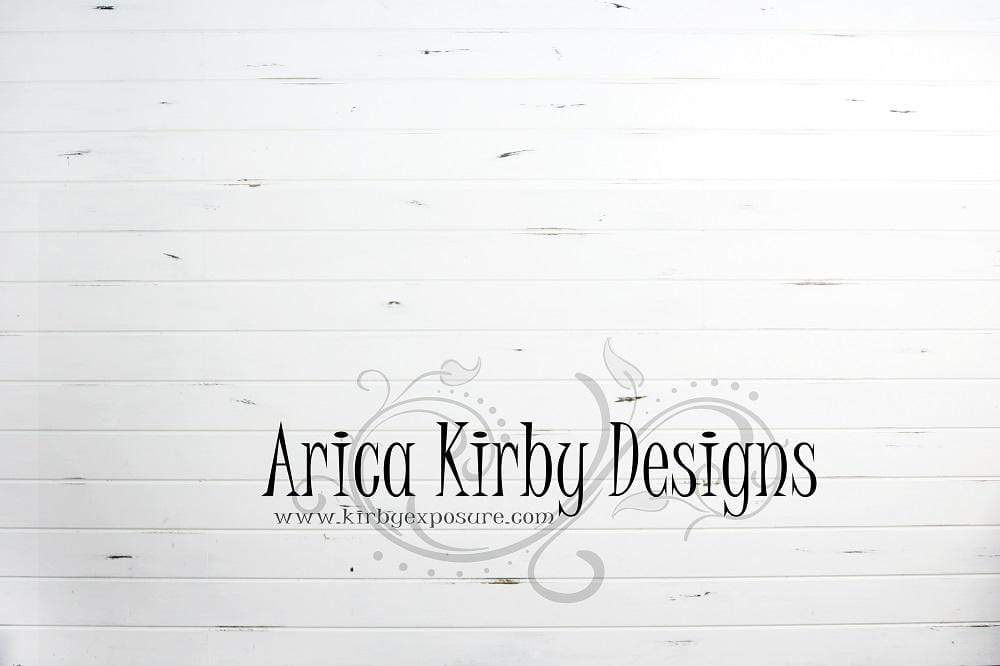 Kate Distressed White Shiplap Wood Backdrop designed by Arica Kirby