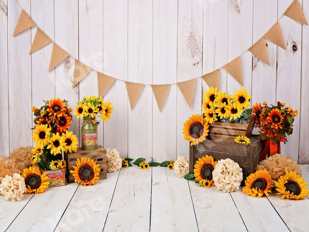 Kate Wood Sunflower Birthday Easter Backdrop Photography