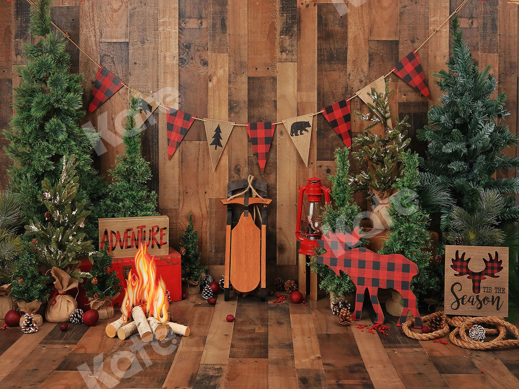Kate Wood Xmas Toy Christmas Backdrop