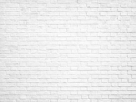 Load image into Gallery viewer, Kate White Gray Retro Brick Wall Backdrop for Photography