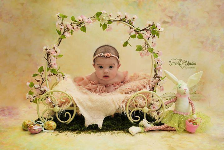 Kate Texture Retro Flowers Backdrop for Newborn