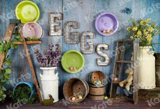 Load image into Gallery viewer, Kate Egg-celent Easter Backdrop designed by Arica Kirby
