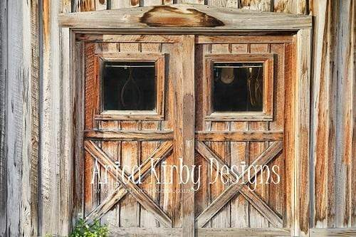 Load image into Gallery viewer, Kate Tack Barn Spring Backdrop for Photography designed by Arica Kirby