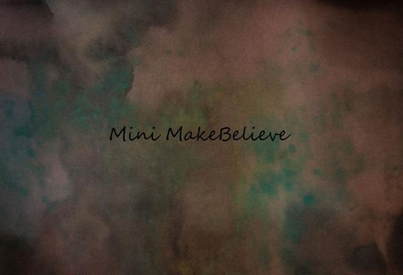 Kate Brown Mixed wiht Green Abstract Backdrop for Photography Designed by Mini MakeBelieve