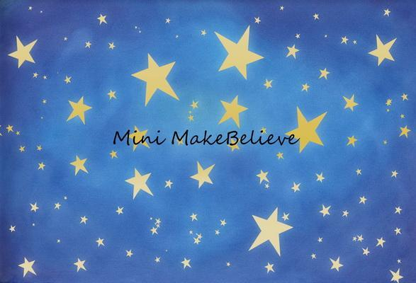 Load image into Gallery viewer, Kate Baby Skies Shiny Stars Backdrop for Photography Designed by Mini MakeBelieve