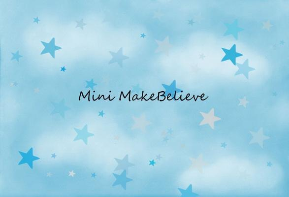 Load image into Gallery viewer, Kate Soft Skies Blue Stars Backdrop Designed by Mini MakeBelieve