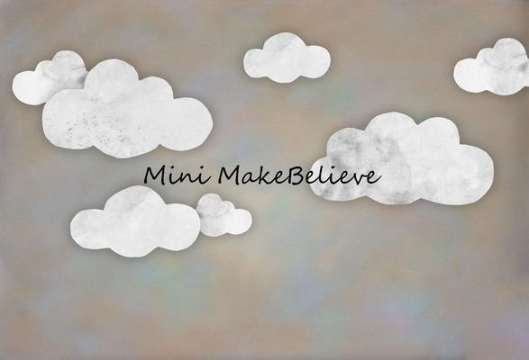 Kate Baby Shower Take Flight Clouds Backdrop for Photography Designed by Mini MakeBelieve