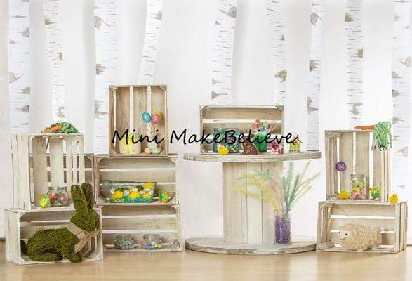 Kate Rabbits And Decorations Easter Backdrop for Photography Designed by Mini MakeBelieve