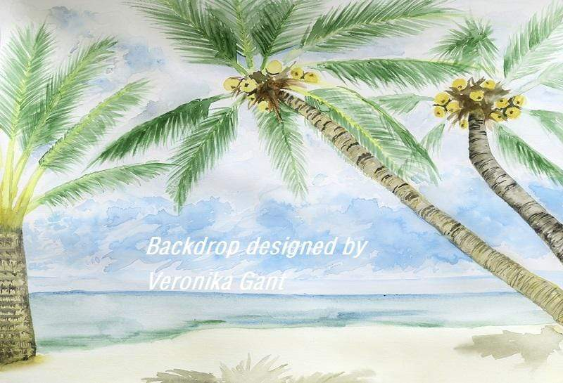 Load image into Gallery viewer, Kate Summer Beach Backdrop designed by Veronika Gant