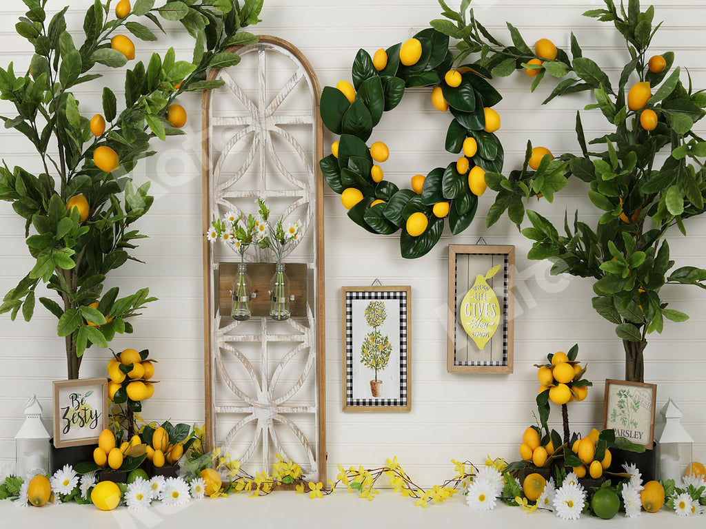 Kate Lemon Be Zesty Spring Backdrop