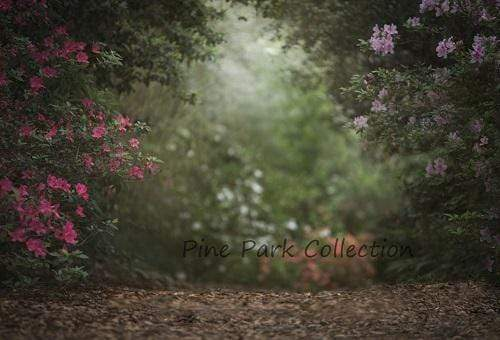 Load image into Gallery viewer, Kate Pink Floral Garden spring Backdrop for Photography Designed by Pine Park Collection
