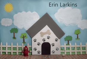 Load image into Gallery viewer, Kate Pet Park Sky and Clouds Spring Tree Children Backdrop for Photography Designed by Erin Larkins