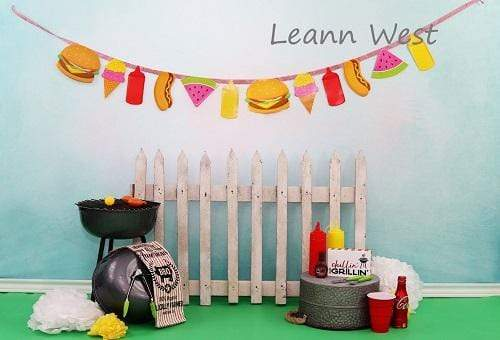 Kate Children Holiday Railing Picnic Spring Backdrop for Photography Designed by Leann West