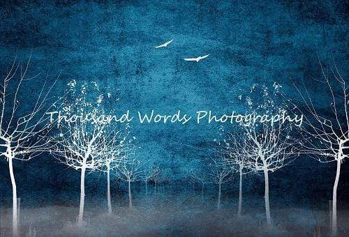 Kate White trees birds high rez Backdrop for Photography Designed by Marina Smith