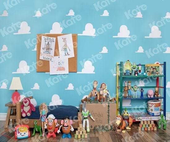 Load image into Gallery viewer, Kate Andys Toy Room Children Backdrop for Photography Designed by Erin Larkins