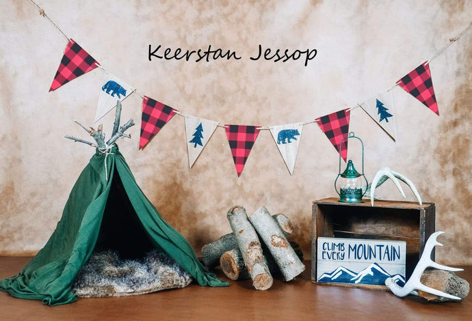 Kate Summer Camping Children Backdrop for Photography Designed by Keerstan Jessop