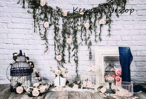 Kate Rustic Victorian Flower Summer Backdrop for Photography Designed by Keerstan Jessop
