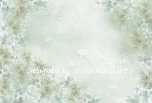 Load image into Gallery viewer, Kate Fine Art Watercolors Green Flowers Abstract Backdrop designed by Veronika Gant