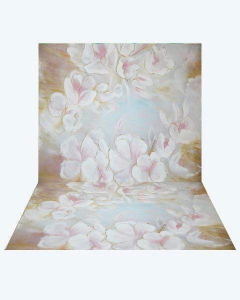 Kate Fine Art Painting Flowers Backdrop+ Fine Art Painting Flowers Rubber Floor Mat