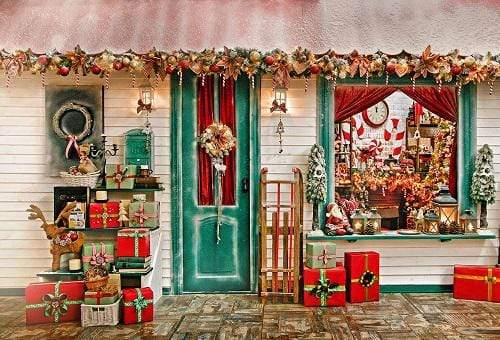 Kate Decoration Gift Christmas Toy Shop Backdrop for Photography
