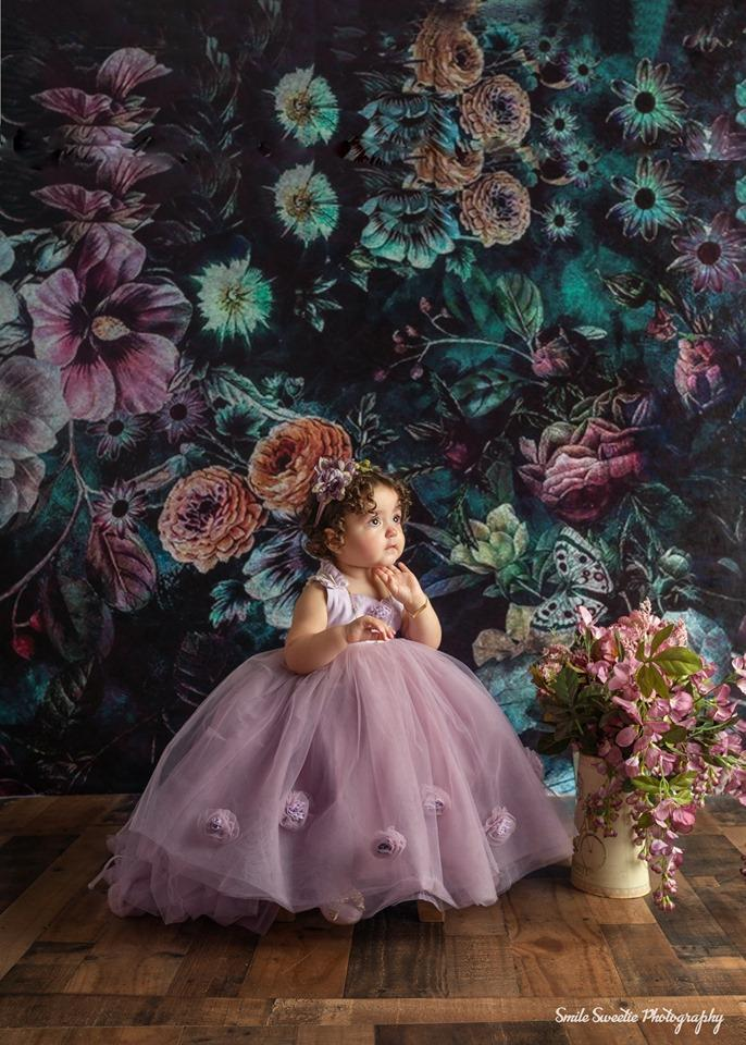 Kate Vintage Dark Rose Floral Backdrop for Photography Designed By Avion Photography