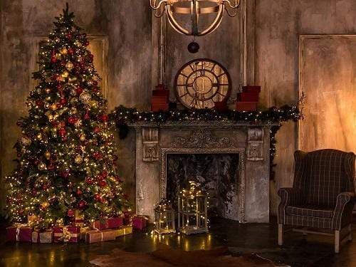Load image into Gallery viewer, Kate Christmas Trees Dark Room Backdrop Designed By Jerry_Sina