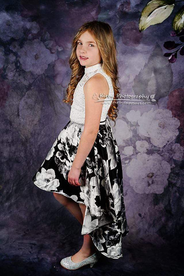 Kate Rose Floral and Abstract Backdrop Designed By Arica Kirby