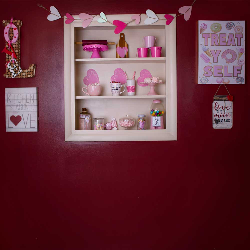 Load image into Gallery viewer, Kate Valentines Kitchen Backdrop Designed By Erin Larkins