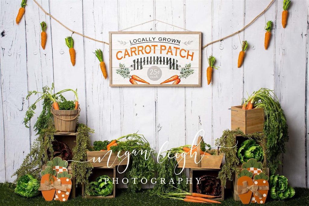 Kate Carrot Patch Easter Backdrop Designed by Megan Leigh Photography