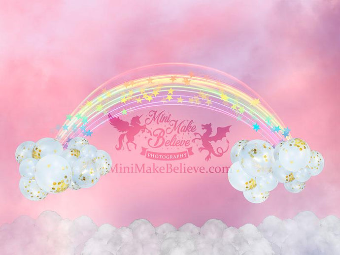 Kate Valentine's Day Pink Sky Backdrop Designed by Mini MakeBelieve