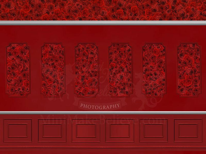 Kate Valentine's Day Red Wall Backdrop Designed by Mini MakeBelieve