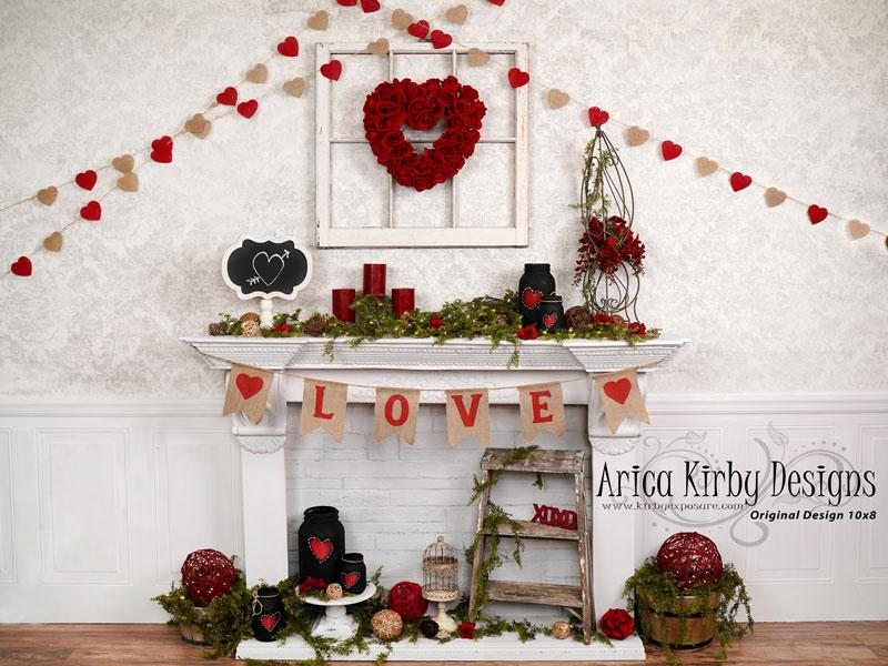 Load image into Gallery viewer, Kate Valentine's Day Love Backdrop Designed by Arica Kirby
